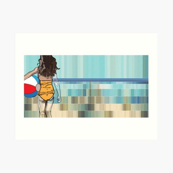 Sentiments d'été - la plage Art Print