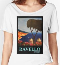 Ravello Salerno Italy View of Amalfi Coast from Villa Rufolo Women's Relaxed Fit T-Shirt