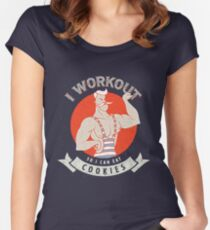 I WORKOUT FOR COOKIES Women's Fitted Scoop T-Shirt