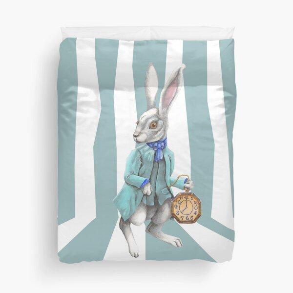 Follow the White Rabbit Duvet Cover
