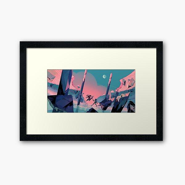 Twilight training Framed Art Print