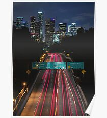 Los Angeles Sky Line Poster