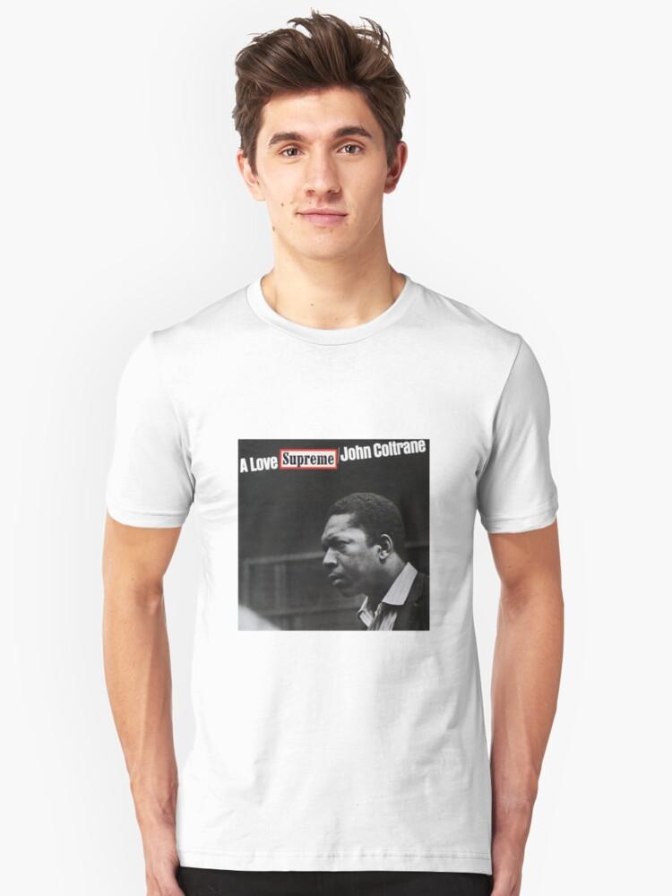 a57fb7adbd9e A Love Supreme - John Coltrane Slim Fit T-Shirt. Designed by jazzadelphia