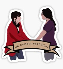 We protect eachother Sticker