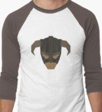 Skyrim Face Polygonal Design Men's Baseball ¾ T-Shirt
