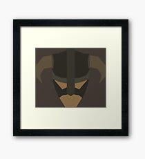 Skyrim Face Polygonal Design Framed Print