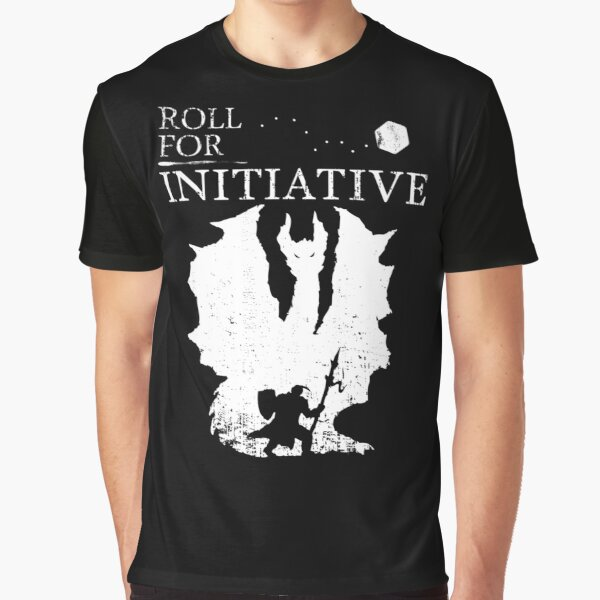 Roll For Initiative - White Graphic T-Shirt