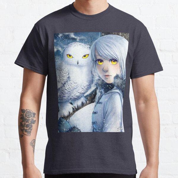 Regard de la chouette des neiges T-shirt classique
