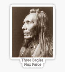 Three Eagles, Nez Perce - Vintage Photographic Portrait Sticker