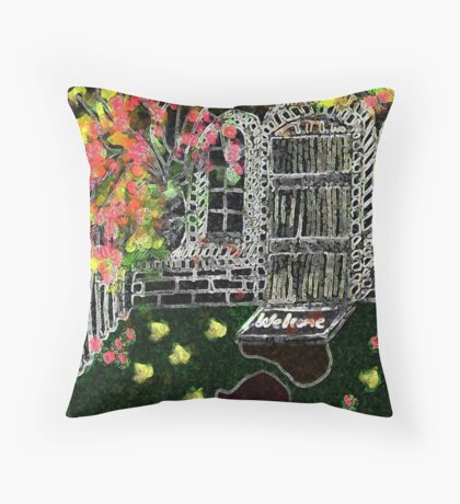 WELCOME without a handle         EVICTION Throw Pillow