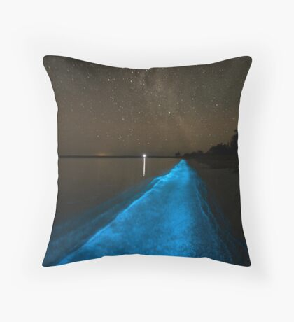 Bioluminescence under the Southern Sky Throw Pillow