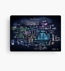 Hollow Knight Map Hollownest Canvas Print