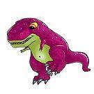 süßer mini dino rex rot von Florian  Gelbmann