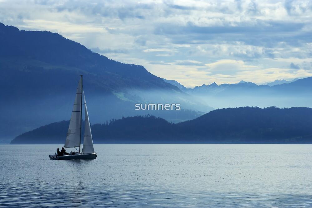 sailing on lake Zug, Switzerland by sumners