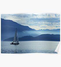 sailing on lake Zug, Switzerland Poster