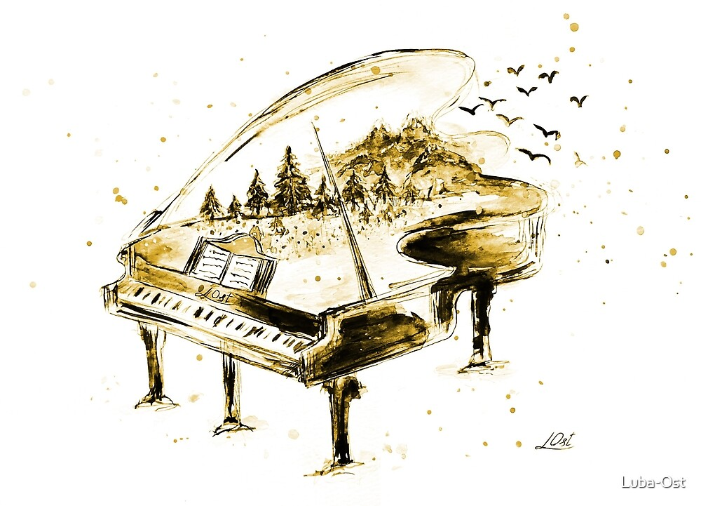 Www Picswe Com: Piano And Watercolor