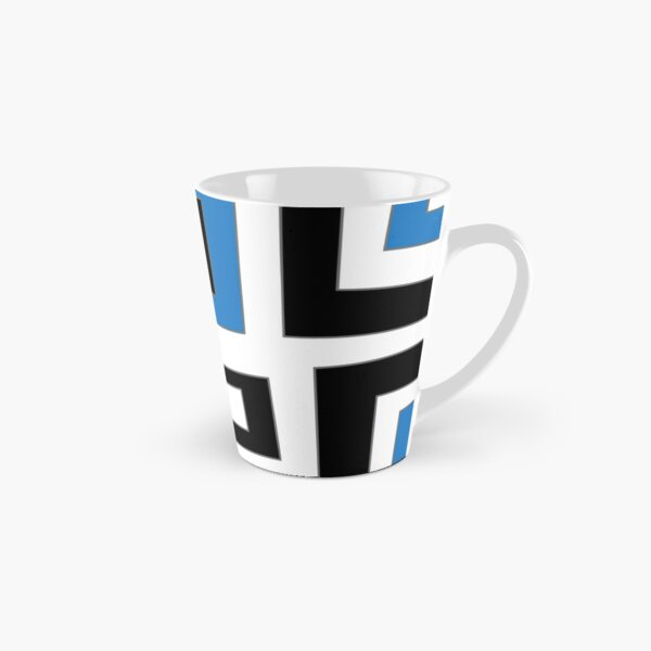 Blue white black geometric pattern Tasse (konisch)
