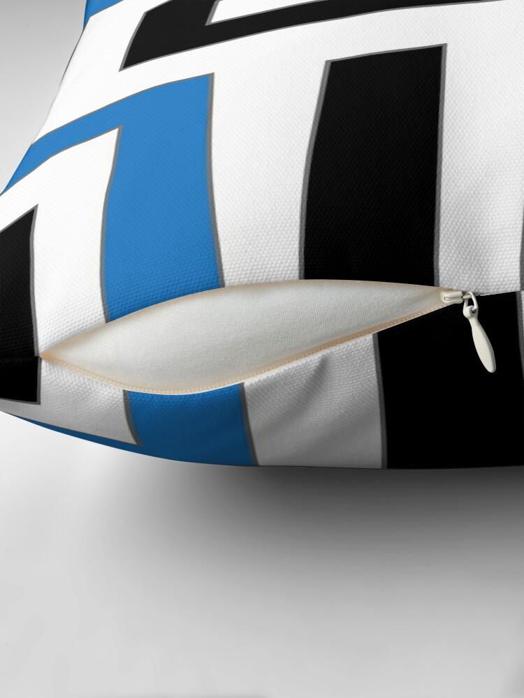 Alternative Ansicht von Blue white black geometric pattern Dekokissen