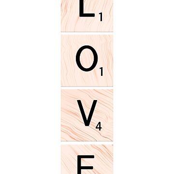 LOVE Scrabble Vertical Tiles by EKartPrints
