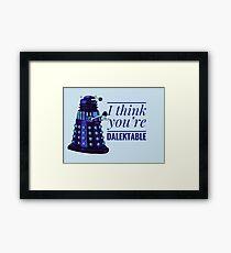 Doctor Who Dalek Valentine Framed Print