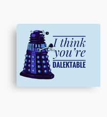Doctor Who Dalek Valentine Canvas Print