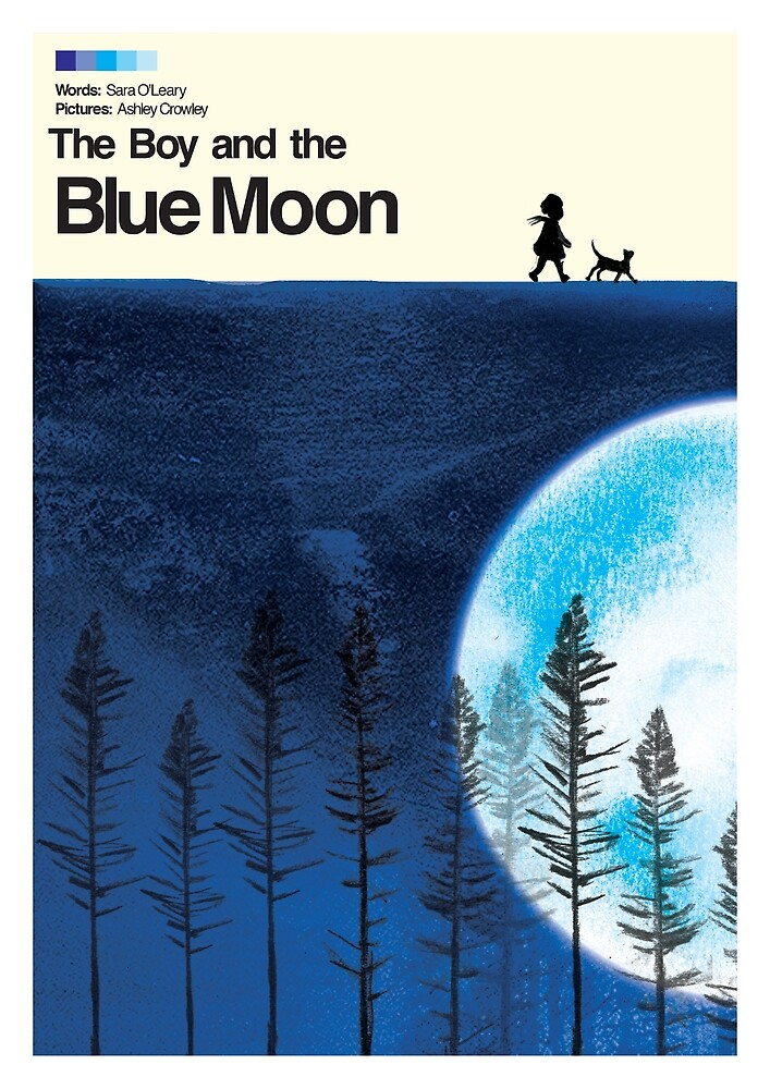 Blue Moon Movie Poster by Ashley Crowley