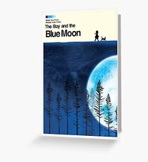 Blue Moon Movie Poster Greeting Card