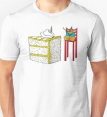 Birthday Bear... with Cake! Unisex T-Shirt