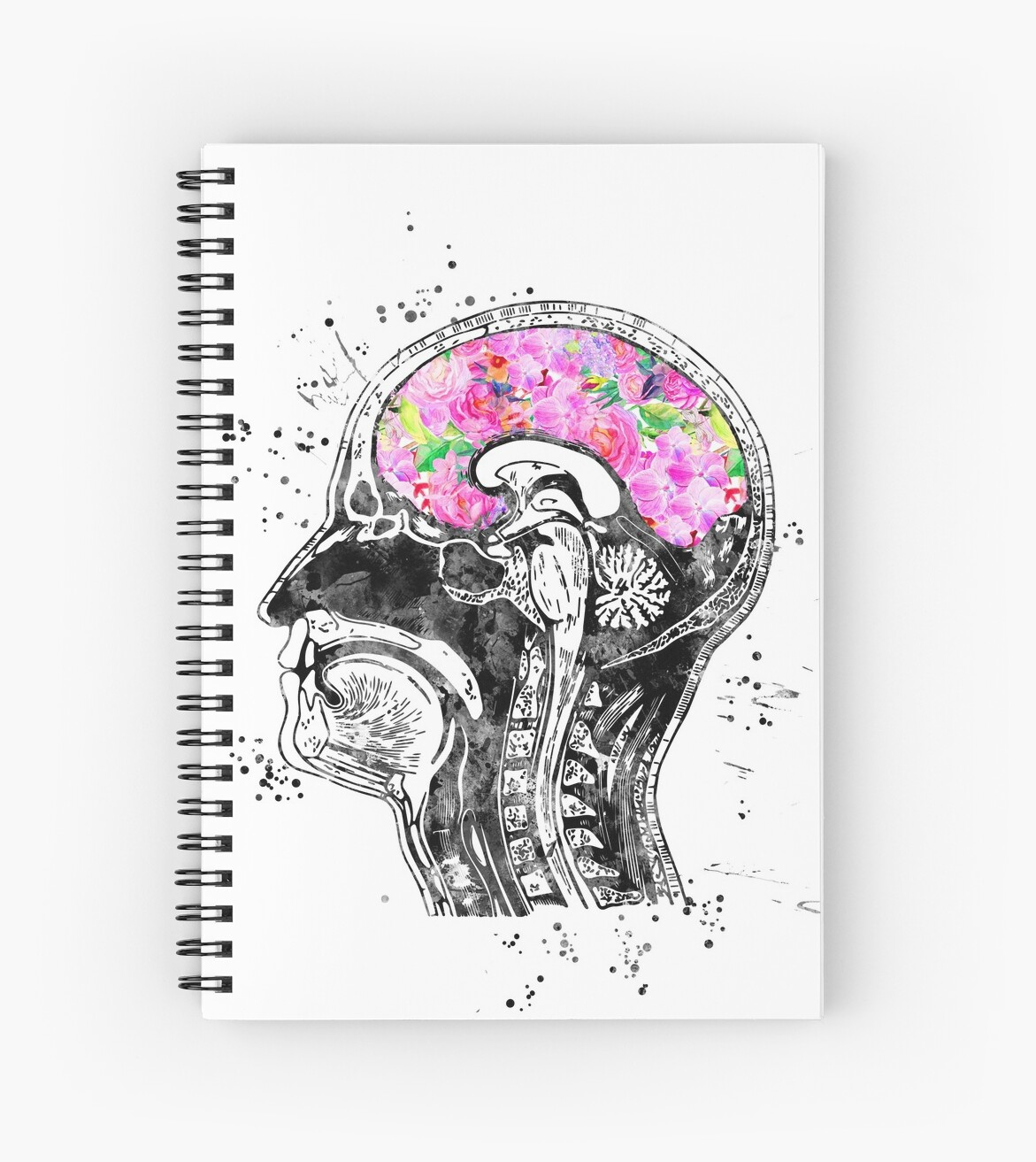 Head anatomy, human head, Brain anatomy, watercolor Brain head with ...
