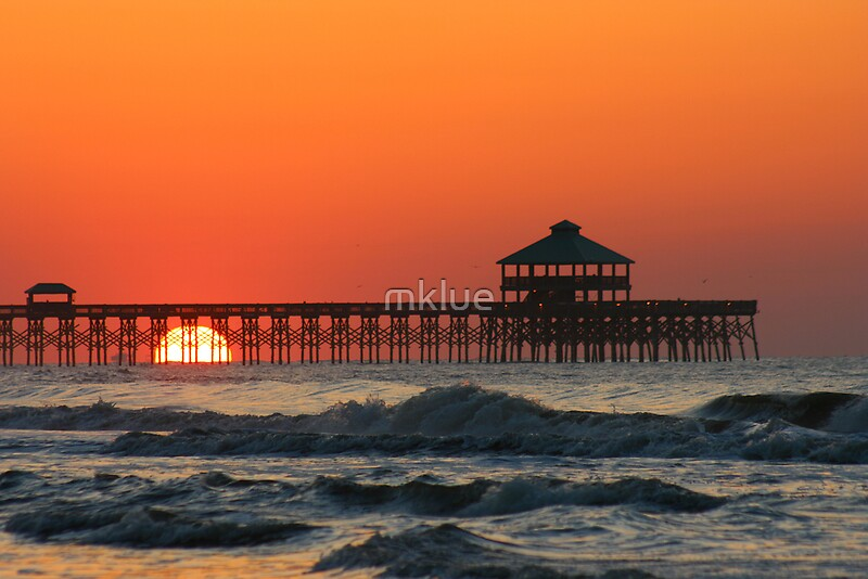 Quot Folly Beach Pier Sc Quot By Mklue Redbubble