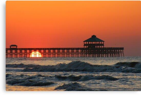 Folly Beach Pier, SC by mklue