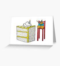 Birthday Bear... with Cake! Greeting Card