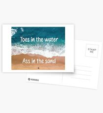 Toes in the Water Zac Brown Band Quote Poster Postcards