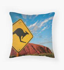 kangaroo rock Throw Pillow