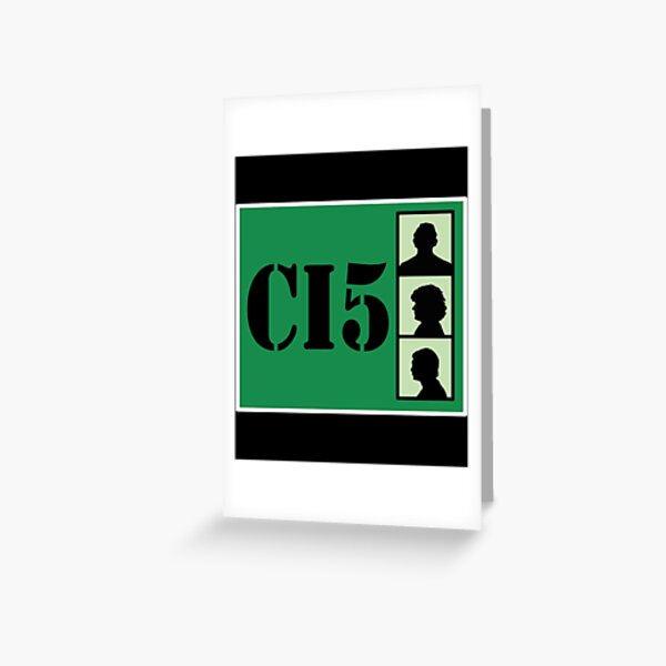 CI5 - The Professionals - Bodie & Doyle Greeting Card