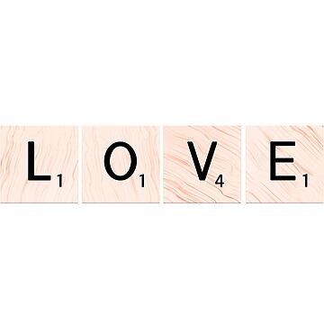 Scrabble Love by EKartPrints