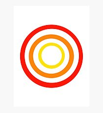 Colored circles Photographic Print