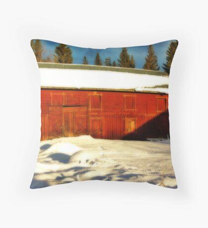 Big Old Barn Throw Pillow