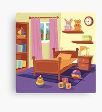 Children Bedroom Interior. Children Room.  Canvas Print