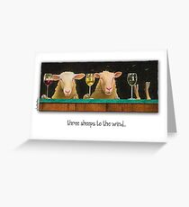 Will Bullas card / three sheeps to the wind Greeting Card