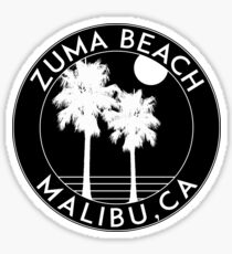 ZUMA BEACH MALIBU CALIFORNIA SURFING SURF SURFER BOOGIE BOARD OCEAN WAVES Sticker