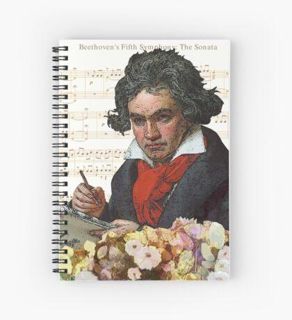 Ludwig von Beethoven Grunged III Spiral Notebook