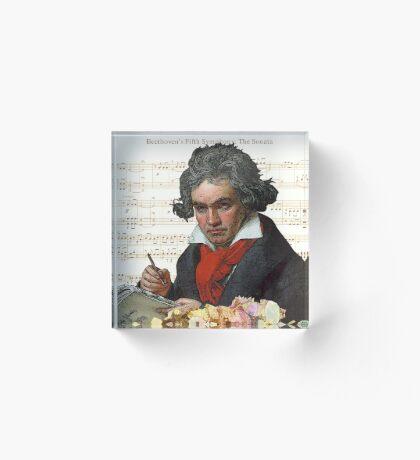 Ludwig von Beethoven Grunged III Acrylic Block