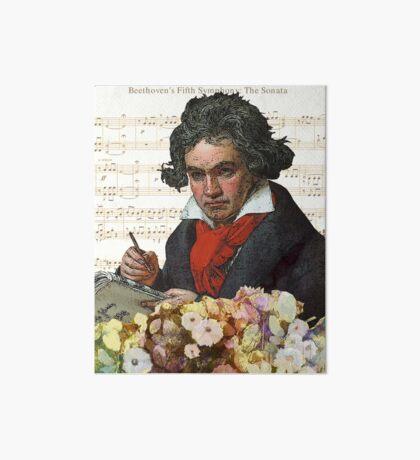Ludwig von Beethoven Grunged III Art Board