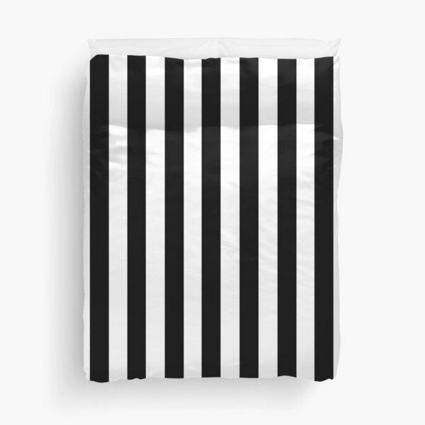 Black White Stripe Bedspread Duvet Cover