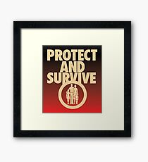 Protect and Survive Framed Print