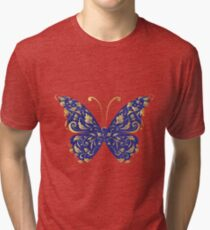 Butterfly, ornate Tri-blend T-Shirt