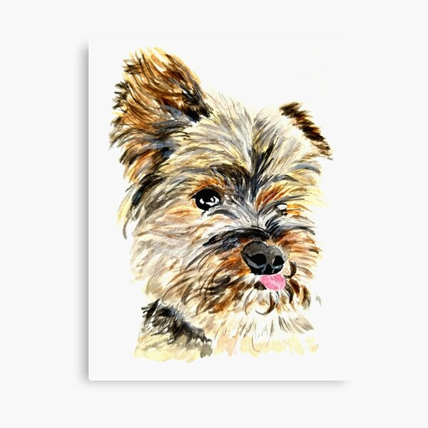 YOUNG GIRL /& HER YORKIE YORKSHIRE TERRIER DOG PAINTING ART REAL CANVAS PRINT