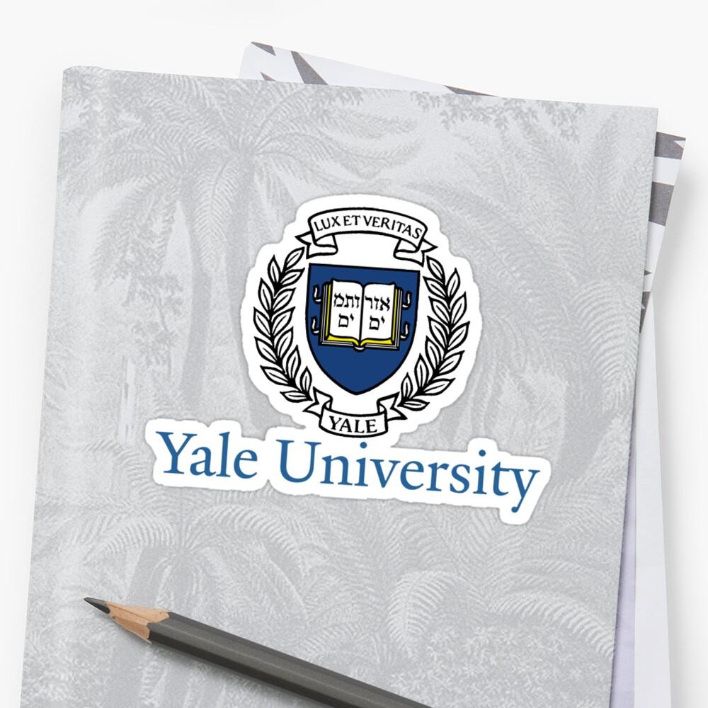 Quot Yale University Classic Design Quot Stickers By Aditya023