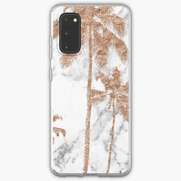 Rose gold marble palms Samsung Galaxy Soft Case
